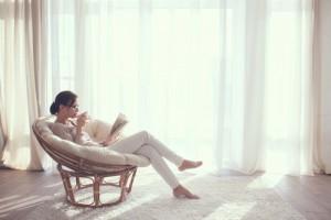 リラックス女性